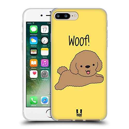 Head Case Designs Occhiali Pattern Hipster Cover Morbida In Gel Per Apple iPhone 5 / 5s / SE Poodle