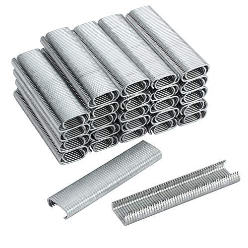 Proster 2500 Stücke C Typ Verzinktem Stahl Heftklammern Clips Hogrings für C7 Auto Feed Fechten Hog Ring Gun - Gun-clips