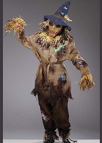 Kostüme Vogelscheuche (Mens Deluxe Halloween Dead Zombie Vogelscheuche Kostüm XL (44-46