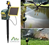 Gardigo Solar-Wasser-Tiervertreiber, Reiherschreck, Vogelscheuche, Hunde-Katzen-Tierschreck