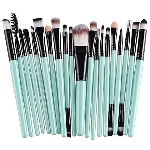 Oshide 20 Stück Professionelle Makeup Bürsten Kosmetik Set Foundation Powder