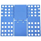 Songmics Planche à plier réglable en plastique pour Vêtements/pantalons/pull-over bleu 57,5 x 69,5 cm (L x l) LCF101
