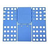 SONGMICS Pullover Hosen faltbrett Falthilfe Einstellbar Wäschefaltbrett Hemdenfalter 57,5 x 69,5 cm blau LCF101