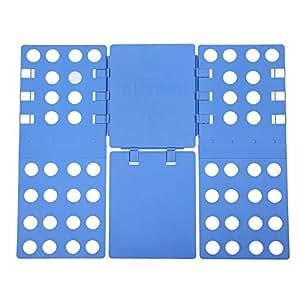 Songmics® Pullover Hosen faltbrett Falthilfe Einstellbar Wäschefaltbrett Hemdenfalter neu Version 57,5 x 69,5 cm blau LCF101