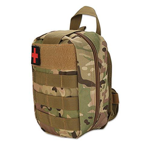 Bolsa Militar de Primeros Auxilios, Estilo múltiple Supervivencia al Aire Libre Bolsa de Primeros Auxilios Táctica Bolsa de Escalada Bolsa Militar para la Aventura(Camuflaje)