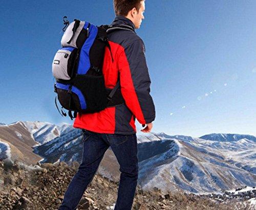 LQABW Viaggi Tempo Libero Sport Escursionismo Zaino Grande Capacità All'aperto Daypack 36-55L,Green Blue