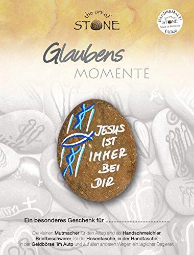"""Glaubens Momente - Serie 1, Motiv 10 """"Jesus ist immer bei Dir"""" Handbemalter Naturstein """"Unikat"""" von The Art of Stone"""""""