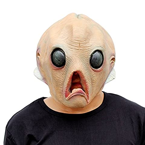 Alien Halloween Décorations - Ericoy Masque de Tête d'animal Alien en