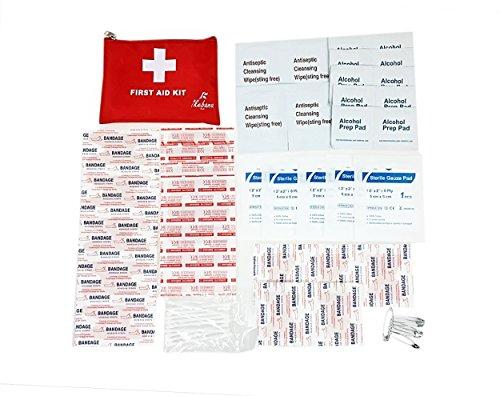 Erste-Hilfe-Kit 64 Stück - Verbandskasten - First Aid Kit, Erste-Hilfe-Kit enthält Notfall-Folie Decke, CPR Gesichtsmaske für Haus, Fahrzeug, Reise, Büro, Arbeitsplatz, Kinderbetreuung, Wander