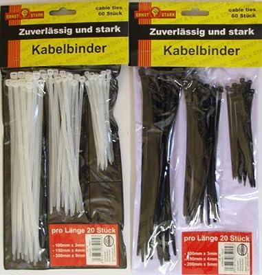 Kabelbinder Transparent 75 Stück 3 Längen sortiert von OSMA Wem auf Lampenhans.de