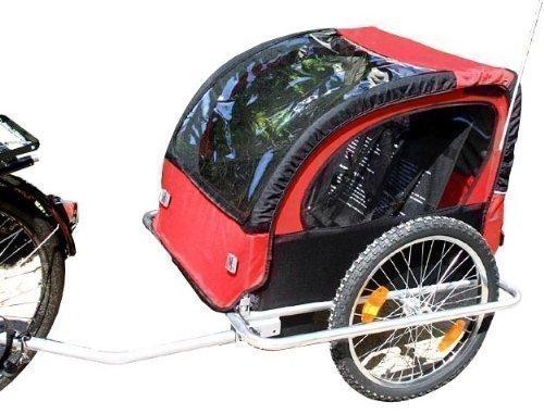 RED LOON T2 - Remorque vélo pour 2 enfants - Certifié TÜV/GS