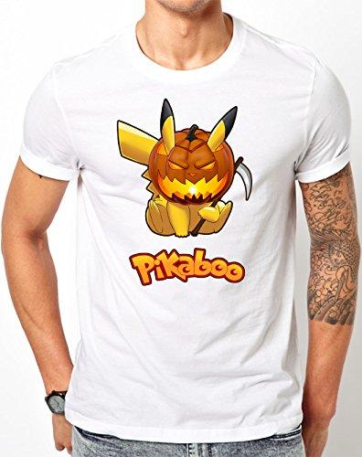 Preisvergleich Produktbild Pokemon Parody - PikaBOO Halloween T-Shirt (XX-Large,  White)