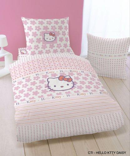 CTI 036795 Bettwäsche Hello Kitty Daisy 135 x 200 mit 80 x 80 cm, mehrfarbig