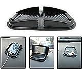#6: NIKAVI Anti Skid Mat Black Rubber Proof Anti Skid Sticky Pad Dash Non Slip Washable Reusable Auto Car Dashboard Interior Decoration Mat Holder FoR Mobile Holder Small