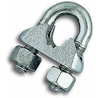 Chapuis BAR9 Lot de 30 Serre-câbles étrier acier zingue pour Câble D 3/4 mm