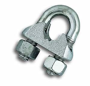 Chapuis BAR10 Confezione di 25 serracavi pinza - Acciaio zincato - Per cavo di diametro di 5 mm