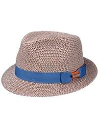 7eb0d12a17 Stetson Contrast Colour Toyo Trilby Hut Fedora Strandhut Sonnenhut Sommerhut  Strohhut UV-Schutz für Damen und Herren mit Ripsband…