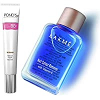 Pond's White Beauty BB+ Fairness Cream 01 Original, 18 g And Lakme Nail Color Remover, 27ml