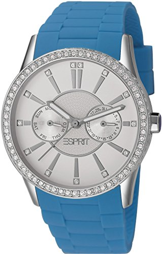 Esprit Damen-Armbanduhr Double Infusion Analog Quarz Leder - Double Time Damen Uhr