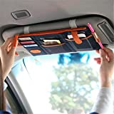 #3: ShopAIS Car Sun Visor Point Pocket Documents Organizer Pouch Hanging Bag CD Card Holder (Assorted Color Will Be Send)