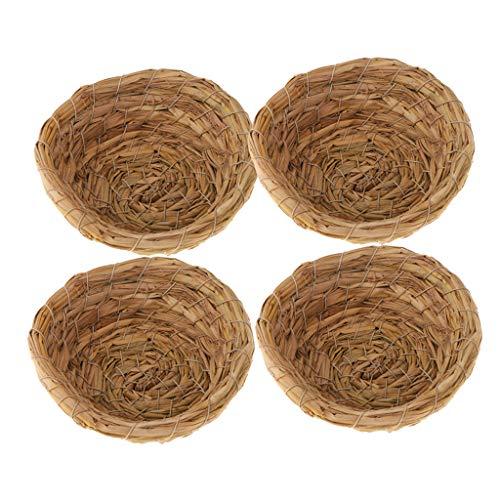 FLAMEER 4pcs Handgemachte Vogelnest Nest Kanariennest Nistkasten Nestplatz Nistmaterial für Kanarienvögel