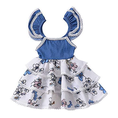 Blaward Mädchen Tutu Rock Sommer Prinzessin Kleider Baumwolle niedlich Kleid Kostüm Kleider (Niedliche Kostüm Für Teens)