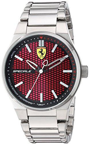 FERRARI Herren Analog Quarz Uhr mit Edelstahl Armband 830357