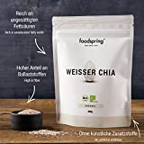 foodspring Organic White Chia Seeds, 250g, The Fitness superfood