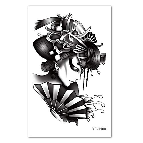 5 Stücke-Tattoo Aufkleber wasserdicht männer und Frauen Korea anhaltende 3D unsichtbare Simulation Blume arm Tattoo Aufkleber körper malerei YF-H100 12 & Times; 19 cm Time Delay Fuses