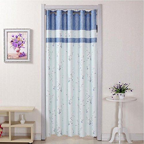 Liuyu · Lebendes Haus Tür Vorhang Tuch ländlichen abgeschnitten Badezimmer Schlafzimmer Küche Wohnzimmer langen Vorhang Blumenmuster ( Farbe : Blau , größe : 200*150cm )