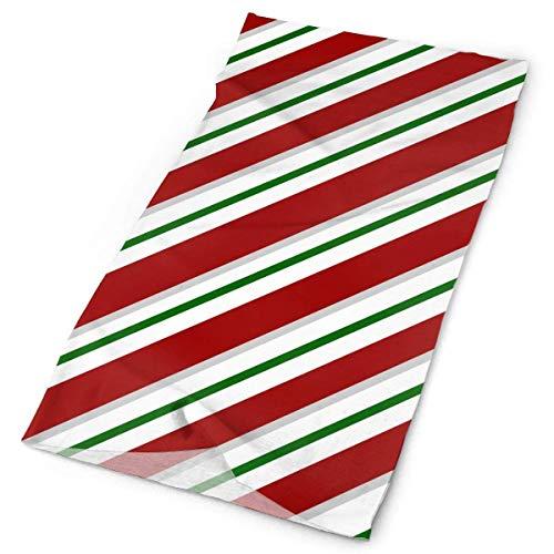 Cotton Striped Headwrap (Headbands Merry Christmas Candy Cane Gift Striped Headband Men Women Headwrap Magic Head Scarf Bandana Headwear Neckerchief Polyester Hairband Design Headdress Foulard)