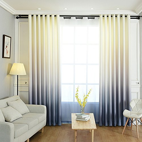 nibesser cortinas Color verläufen opaca cortinas 209 decorativa cort