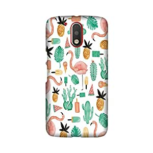 Moto G4 Plus Perfect fit Matte finishing Motif Pattern Mobile Backcover designed by Aaranis (Grey) Perfect fit Matte finishing Motif Pattern Mobile Backcover designed by Aaranis (White)