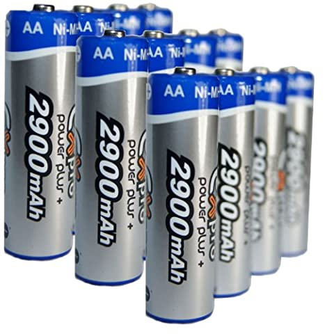 Ex-Pro® Power Plus+ Rechargeable Ni-Mh Batteries - AA Size [2900mAh]