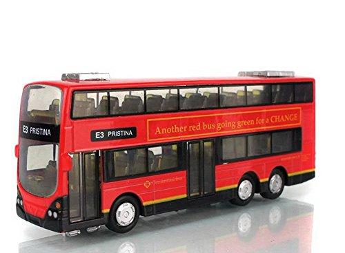 E3 PRISTINA City Bus Diecast Mini Doppeldecker-Bus Spielzeug für Jungen 6,3 \'\'