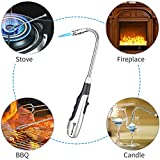 Larruping Candle Butane Lighter Long Lighter Refillable gas Lighter Adjustable Jet Flame Torch Lighter for Grill BBQ Gas Fireplace Fire(Butane Fuel Not Included)