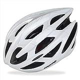 CODOMOXO - Casco de ciclismo para adulto especializado para hombres y mujeres, protección segura con casco de bicicleta de montaña, bicicleta de carretera, ajustable, color blanco, tamaño Medium