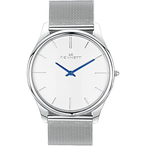 Mens Kennett Kensington Silver White Milanese Watch KSILWHMIL
