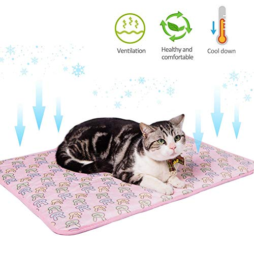 soundwinds Katzen Kühlmatte Selbstkühlende Haustiermatte Sommer Hundekühlkissen Pet Ice Silk Pad...