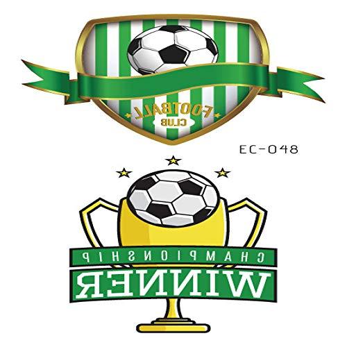 liche wasserdichte Schweiß Fußball Cup Jubel Gesicht Aufkleber Sportverein Flagge Tattoo Aufkleber EC-048 12x7.5cm ()