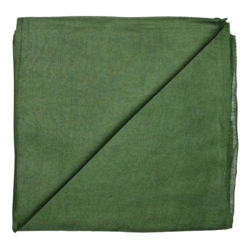 Superfreak® Baumwolltuch°Tuch°Schal°100x100 cm°100% Baumwolle, Farbe grün (Grün Schal)