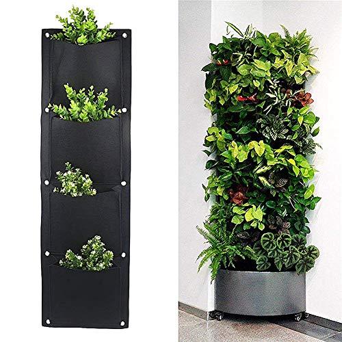 Mioloe Borse per fioriere sospese Fioriere per piante verticali a parete Piantare crescere borse Borse per piante Borse per lo stoccaggio size 4 pockets