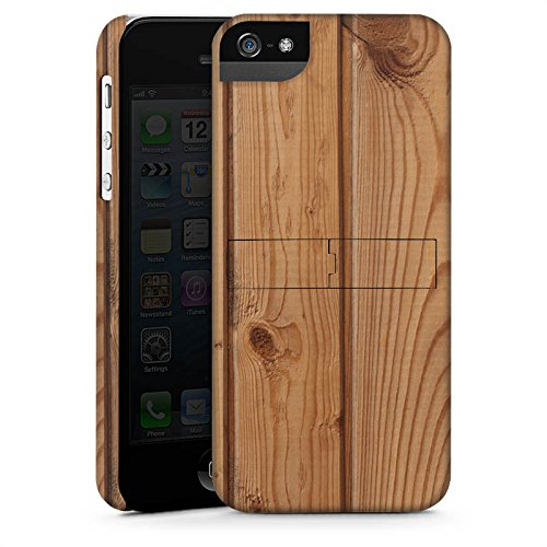 Apple iPhone X Silikon Hülle Case Schutzhülle Holz Look Planken Holzboden Premium Case StandUp