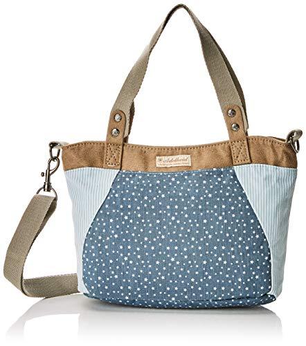 Adelheid Damen Glückspilz Handtasche klein Henkeltaschen, Mehrfarbig (sternchen blau 734) 30x22x2 cm