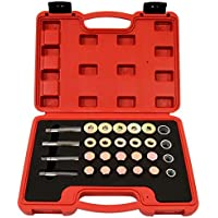 Timbertech - Kit de reparación de tapón de Rosca de Vaciado, Rosca: M13, M15, M17 20, 64 Unidades