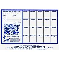 Football Fundraising Cards, 20 Team (Pack 25)
