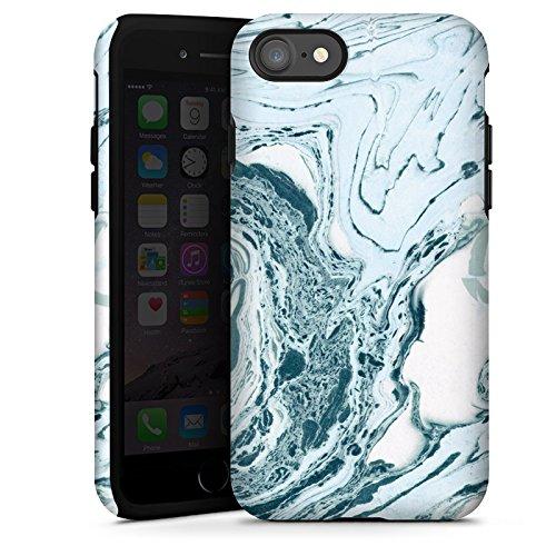 Apple iPhone X Silikon Hülle Case Schutzhülle Marmor Marble Marmoriert Tough Case glänzend