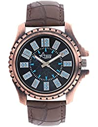 Adix Brown Leather Analog Watch For Men