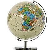 DonRegaloWeb–Globus Weltkugel Welt–Beige mit Länder-Farben 25cm