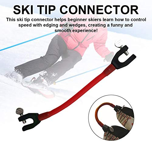 Ski Clip,Snowboardverbinder Ski Clip Skihalter Ski Must-Have für Einsteiger, ausziehbar, 21X3,5X1cm